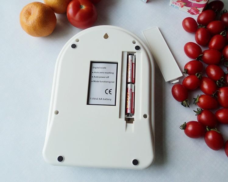 Balanza peso digital de cocina hasta 7kg x 1g model sf for Balanza cocina 0 1 g