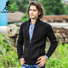 Pioneer Camp cardigans men sweaters new 2016 knitwear zipper cardigan Top quality brand clothing fashion male christmas coat(China (Mainland))