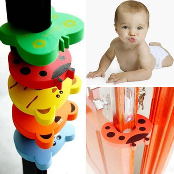 Гаджет  Child kids Baby Protection Animal Cartoon Jammers Stop Door stopper holder lock Safety Guard Finger Protect Free Shipping None Детские товары