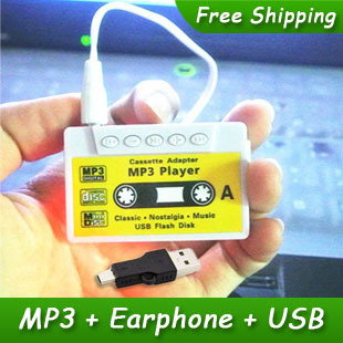 New Style High Quality Mini Tape Shaped Card Reader MP3 Music Player Gift MP3 Players With Earphone&Mini USB(China (Mainland))