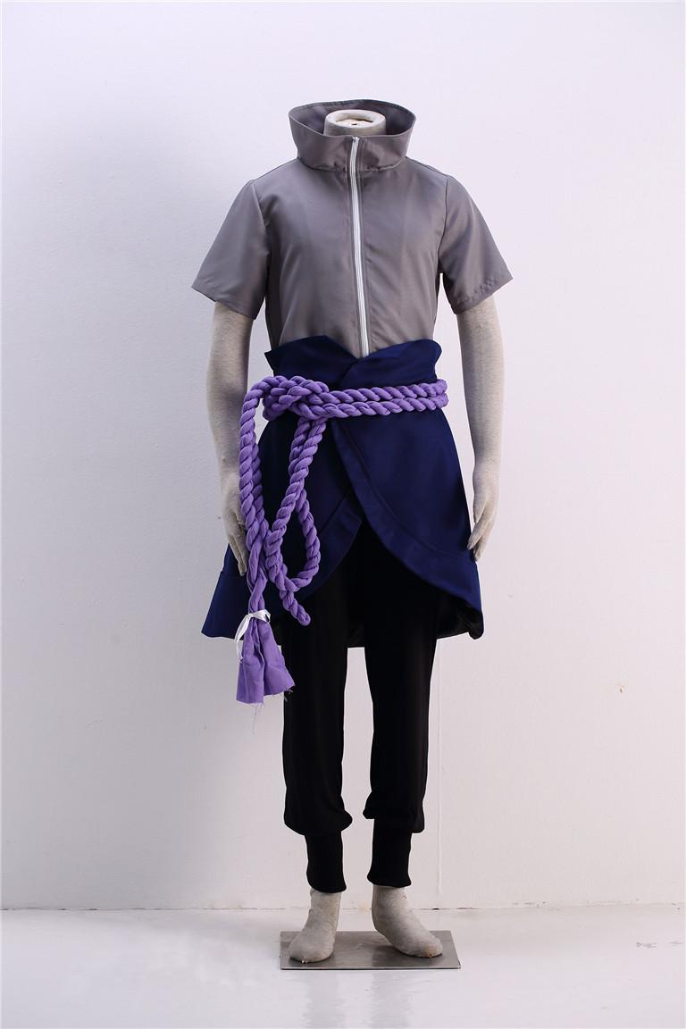 Naruto Sasuke Uchiha outfit Cosplay Costume(China (Mainland))