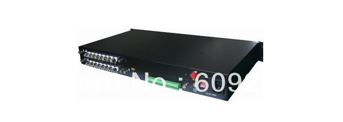 16 channel Fiber optic Video &16 channel Analog Audio Multiplexer Digitally Encoded(China (Mainland))