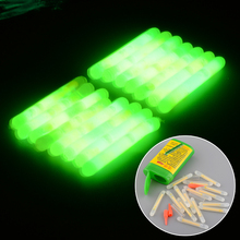 15X Mini Fishing Fish Fluorescent Lightstick Light Night Float Rod Lights Dark Glow Stick Useful free shipping