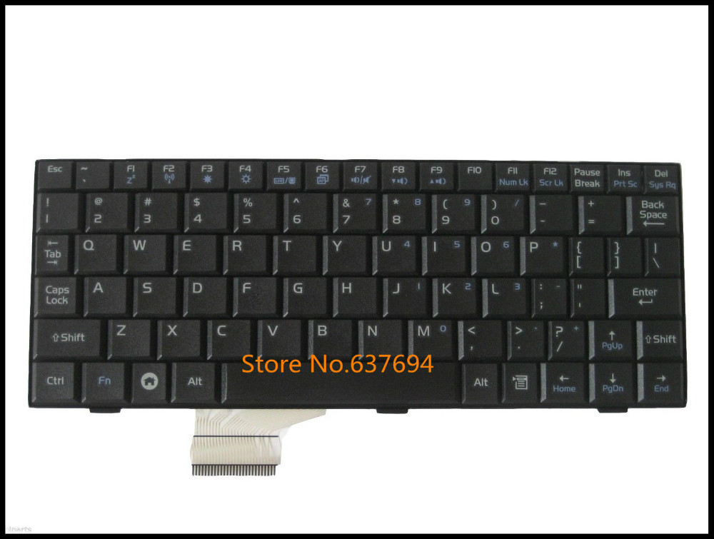 Hot sale Free shipping!! New Keyboard For Asus EEE PC EEEPC 700 701 900 901 Laptop Black US Teclado(China (Mainland))