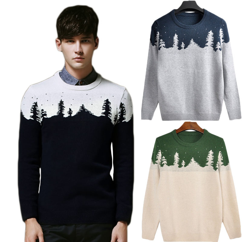 2014 Winter Autumn Christmas Pullover Men Sweater Long Sleeve Man Jumper China Famous Brand Fashion Clothing Sueter Masculinas - Keep Fantasy Mall store