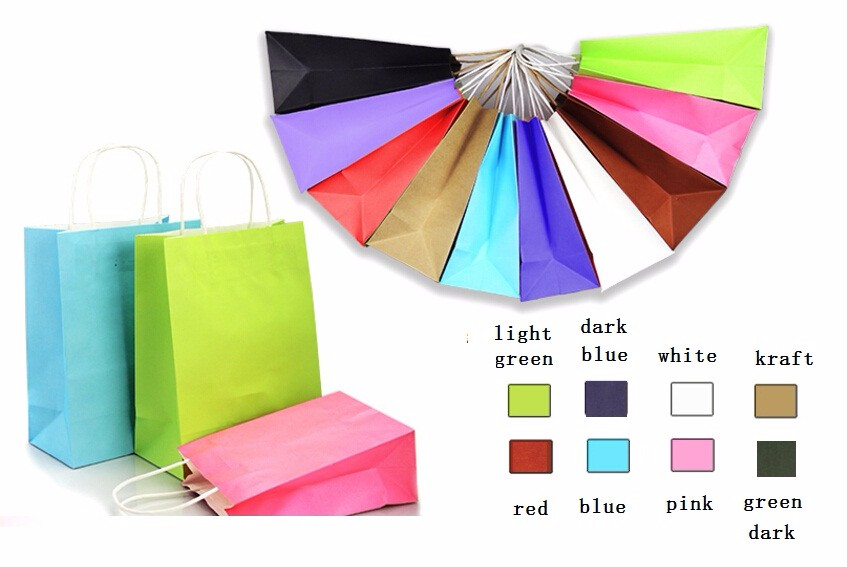 cheap paper gift bags with handles paper shopping bags for gifts(China (Mainland))