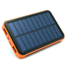 New 100000mAh Waterproof Portable Solar Power Bank Dual USB Solar Charger for cell phone power bank(China (Mainland))