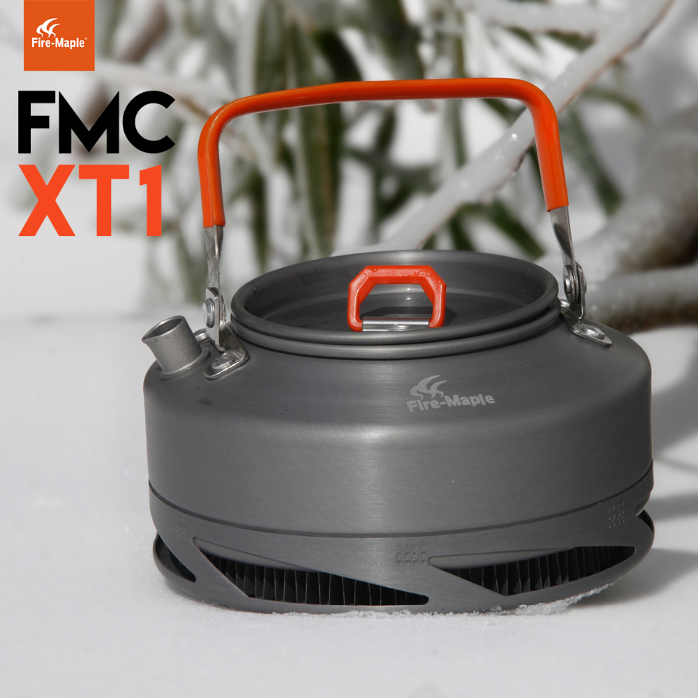 Fire Maple FMC-XT1 Outdoor Camping Heat Exchanger Kettle Water/Coffee/Tea Pot 0.8L 242g<br><br>Aliexpress