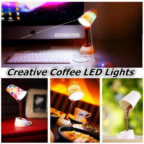 Creative USB battery dual-use coffee light LED lamps and coffee table lamp Eye eye lamp to learn(China (Mainland))