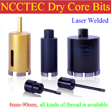 0.48'' LASER WELDED diamond DRY core drill bits CD12LW | 12mm DRY ceramic tiles drilling tools | 130mm long FREE shipping(China (Mainland))