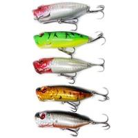Crank Vibration Popper SHAD Fishing Lure Hard Baits Tackle Sets Kit 65mm 13g