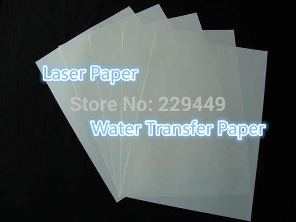 (A3*50 sheets) A3 Printing Paper Clear Color Laser Water Slide Decal Paper Water Transfer Paper For Glass Wholesale Retail(China (Mainland))