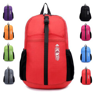 2015 new Ultra-light mountaineering hiking bag full waterproof portable can storage female candy color cute backpack schoolbag(China (Mainland))