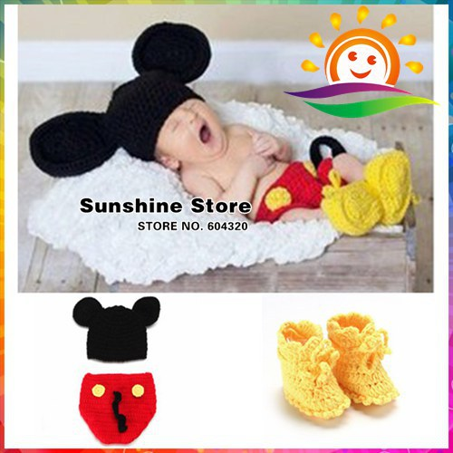 Hot sale handmade cap baby crochet hat,toddlers costume shorts shoes set photography props Cute Animals hats #3C2690 3 set/lot(China (Mainland))