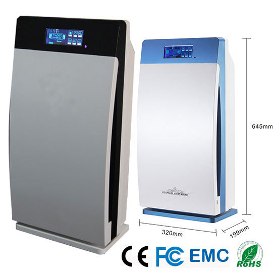 Multi-function home air purifier,220V/110V,80W,ozone generator(O3)500mg,anion denisty 5 million,UV air sterilizing,pm2.5 CE FCC(China (Mainland))