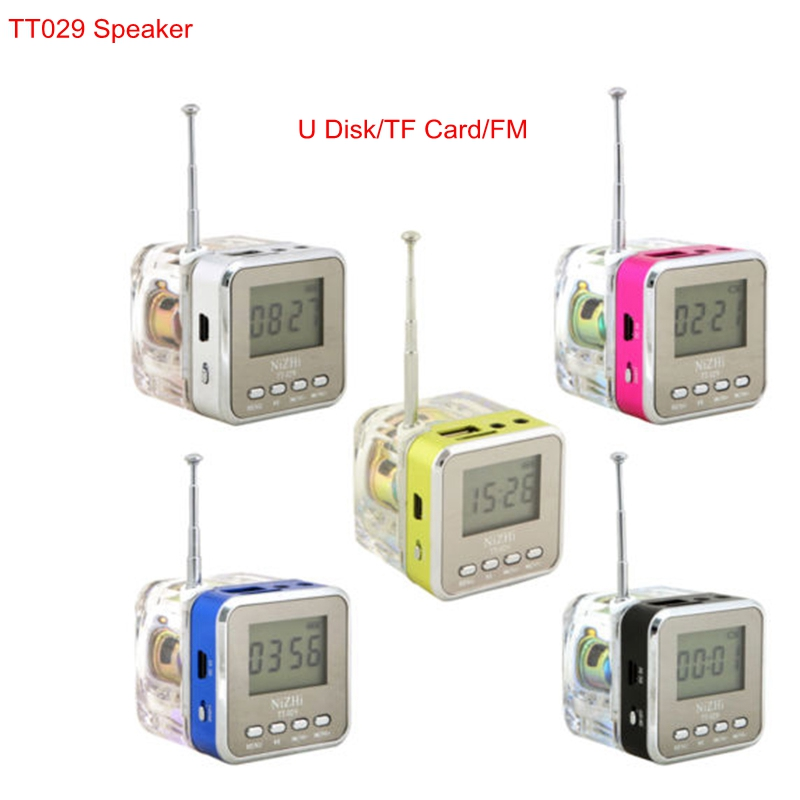TT029 New Mini Portable Speaker Digital Screen SD TF MP3 Music Player Loudspeaker Support USB Disk FM Radio Alarm Clock(China (Mainland))