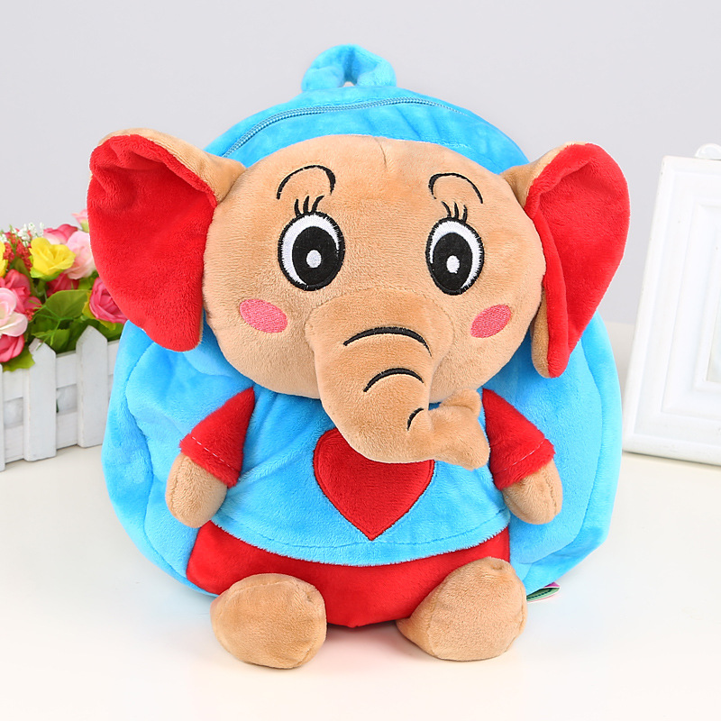 Kids Cartoon backpack small elephant toy childrens school bags Infants girls traveling animal bag for boys<br><br>Aliexpress