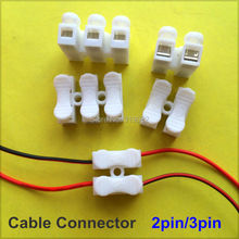 10 pcs 2pin 3pin Spring Cable Clip self lock press push quick 2P 3P Wire clip connector Wiring Terminal for car led strip lamp(China (Mainland))
