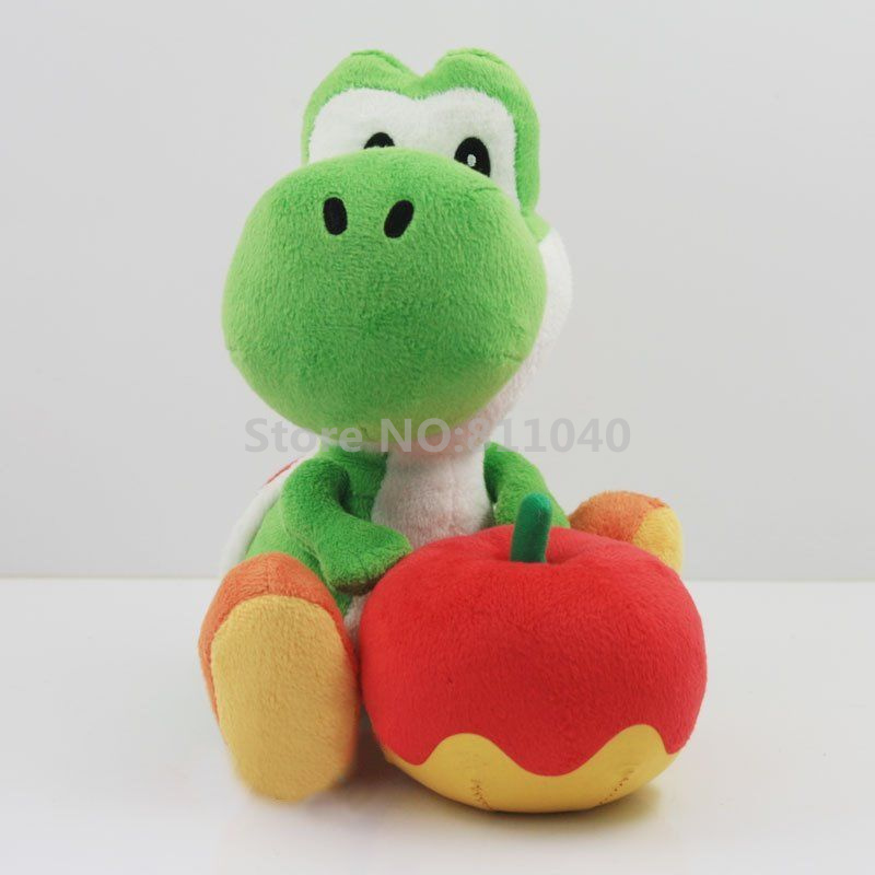 New 2016 Cartoon Super Mario Bros Plush Toy Green yoshi Stuffed Soft Animal Toys Doll 6in For Kids Gift(China (Mainland))