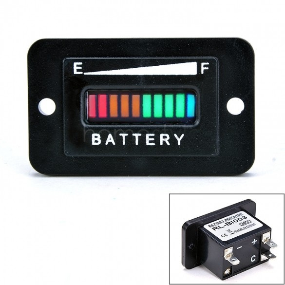High Quality 36 Volt Golf Cart Club Car Battery Charge Status Meter Indicator 36v us24(China (Mainland))