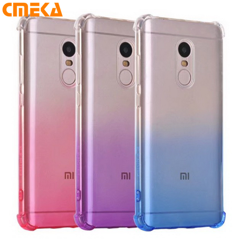 Xiaomi Redmi Note 4X Case Xiaomi Redmi Note 4X Cover Luxury Gradient Clear Soft TPU Case Note 4 X Silicon Cover Cell Phone Case(China (Mainland))