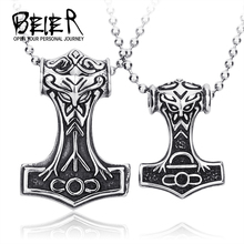 316L STAINLESS Steel  fashion pendant mens Nordic myth Thor big/small jewelry high quality BP8-080(China (Mainland))