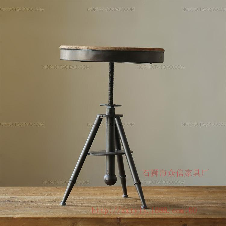 Wholesale supply to do the old wrought iron coffee tables and chairs can lift Coffee retro wood coffee table support custom(China (Mainland))