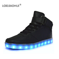 Hot Sell Luminous LED Shoes For Adults 2017 Spring Autumn Fashion Women s Men s High