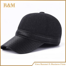 New winter baseball cap quilted warmer ear flap thicken warm with earflaps caquette panel dad hat strapback cap unisex(China (Mainland))