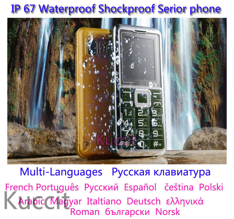 cheapest original shockproof dustproof Waterproof phone elder Senior GSM old man mobile phone Russian keyboard people ADMET B30(China (Mainland))