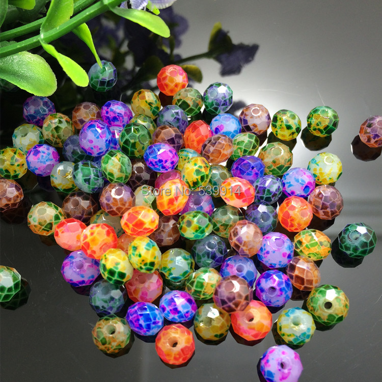 Free Shipping 6MM Mixed Colorful Cutted&amp;Faceted  Glass Loose Beads Charms For Jewelry Bracelet&amp;Necklace Findings 200pcs/lot<br><br>Aliexpress