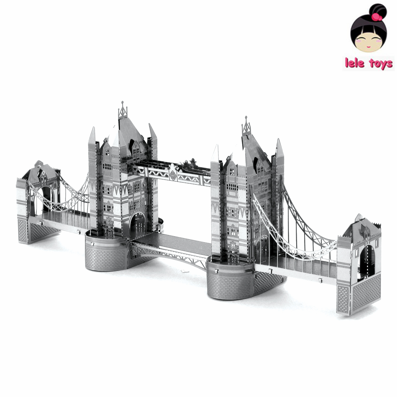 Construction Famous Buildings Over The World 3D Metal Model Puzzles LONDON TOWER BRIDGE Chinese Metal Earth Stainless Steel(China (Mainland))
