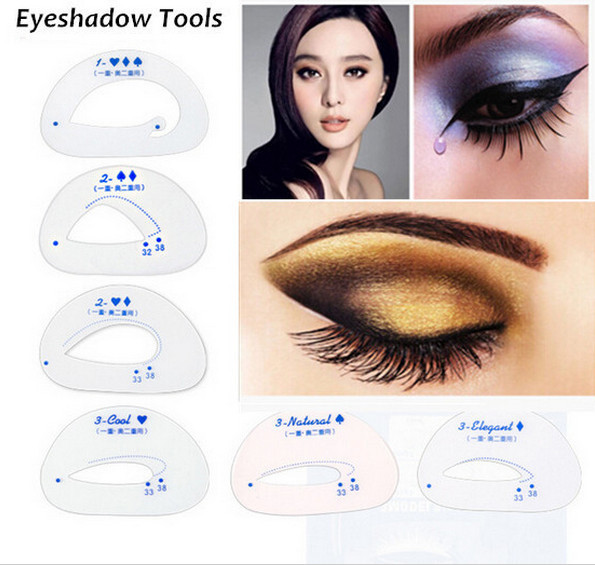 6pcs pack Cat Smokey Eye Makeup Stencils Eyebrow Stencil Eyeshadow Models Card Auxiliary Makeup Tools Free