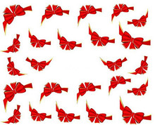 Water Transfer Nail Art Stickers Decal Beauty Cute Red Bows Flowers Design Decoration DIY French Manicure Foils Stamp Tools