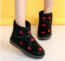 Cargadores de las mujeres de Piel Caliente de Algodón Zapatos de Invierno de Alta Calidad de Las Mujeres Cozy Suave Botas de Nieve Del Tobillo Zapatos Planos de La Mujer(China (Mainland))