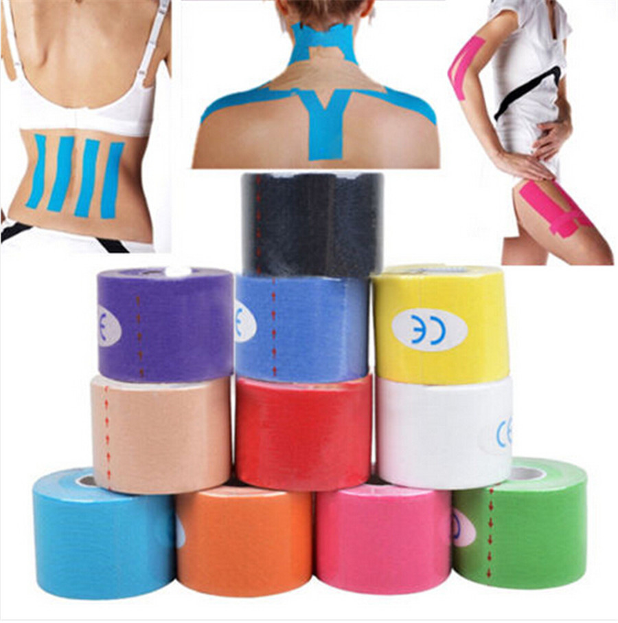 Гаджет  New 5mx5cm Kinesiology Sports Muscles Care Elastic Physio Therapeutic Tape exp Y711 None Спорт и развлечения