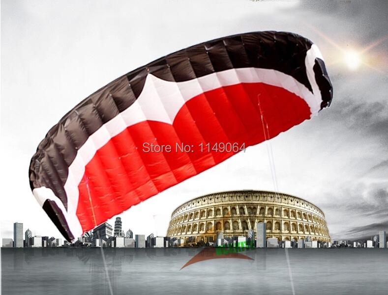 free shipping high quality M 12 square meters quad line power kite surf papagaio pipas aguia kite board parachutes cycle kevlar(China (Mainland))