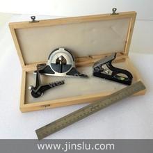 12 pulgadas combinación conjunto cuadrado en caja con escuadra transportador centro cabeza regla