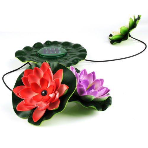 Mouse over image to zoom Details about Solar Power LED Lotus Light Flower Lamp Floating Pond Garden Pool Nightlight(China (Mainland))