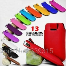 Fashion colorful Pull Up Tab Strap PU Leather cellphone bag cases 13 colors Pouch Case For Elephone P6000 Pro