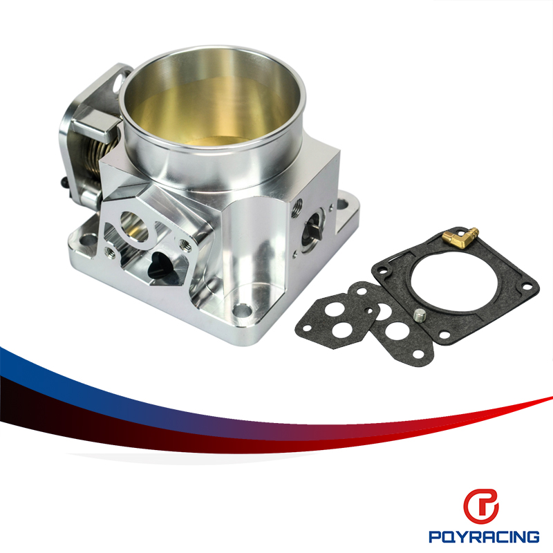 PQY RACING-75MM BILLET CNC THROTTLE BODY FOR 86-93 FORD MUSTANG GT COBRA LX 5.0 PQY6958S(China (Mainland))