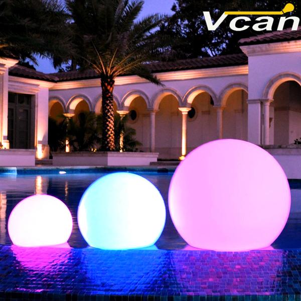 30cm Floating LED Pool Glow Light Orb Ball Outdoor Living Garden Light Decor<br><br>Aliexpress