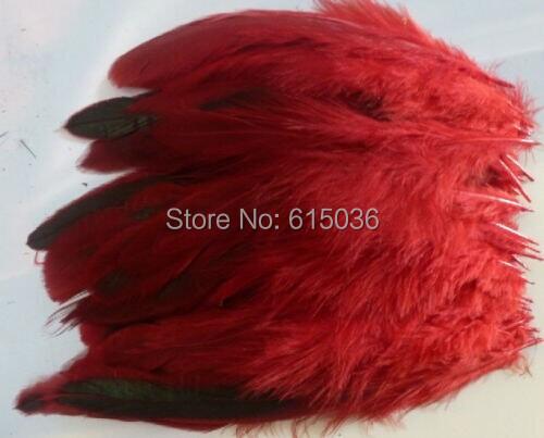 Естественная 100 шт красный красивый петух перья 12 до 16 см 5 к 7 дюймов
