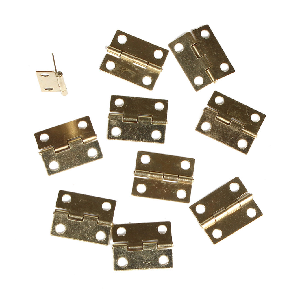 Gold Color 10pcs Mini Cabinet Drawer Butt Hinge Hot Selling(China (Mainland))