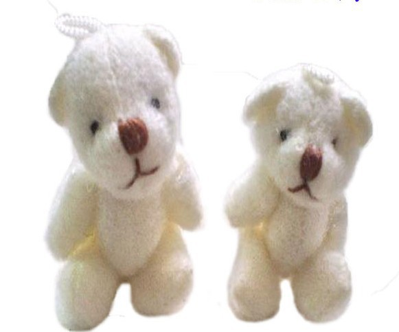 For Sale free shipping wholesale 100pcs/lot 3cm=1.2inch plush toy mini joint teddy bear cartoon bouquet material<br><br>Aliexpress