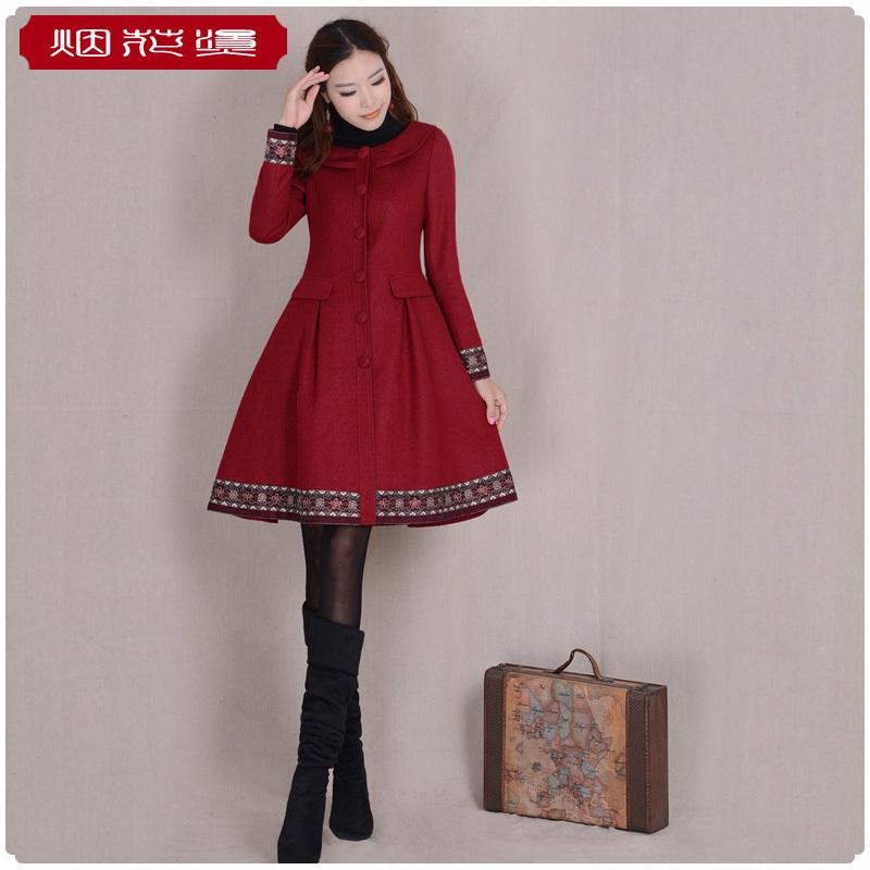 BOHOCHIC Womens Autumn Winter Vintage Retro O Neck Single Breasted Slim Embroidery Coat YA0001D Boho ChicОдежда и ак�е��уары<br><br><br>Aliexpress