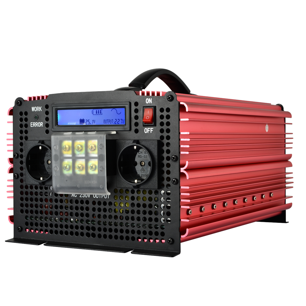 inverter 24v 220v 6000W Peak pure sine wave inverter 3000W 3200W power inverter(China (Mainland))