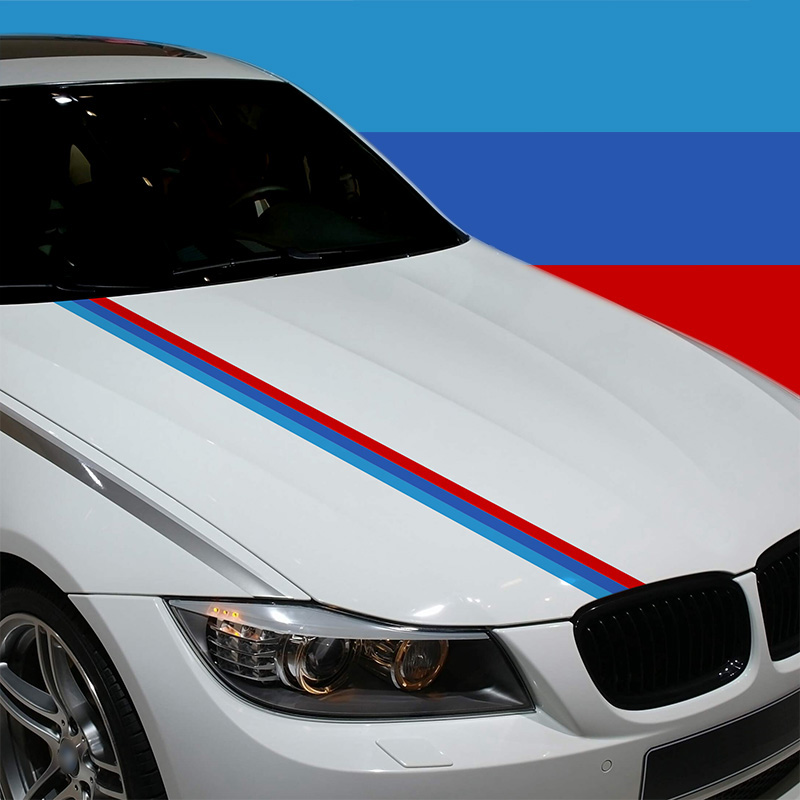 3 Sets Customization M Colors German flag Car Covers Sticker Badge Car-styling BMW BENZ Volkswagen Audi car accessories