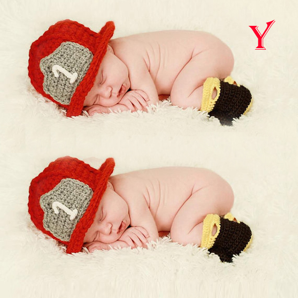 Kids Baby Toddler Photo Prop Beanie Flowers Knit Crochet Animal Hat Cap Costume(China (Mainland))