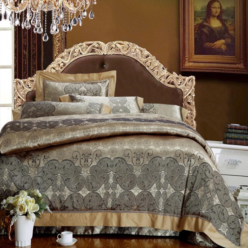 New arrival Soft pure cotton Jacquard double bedding set bed linen 4PCS bedsheet duvet cover pillowcase king queen size  (China (Mainland))